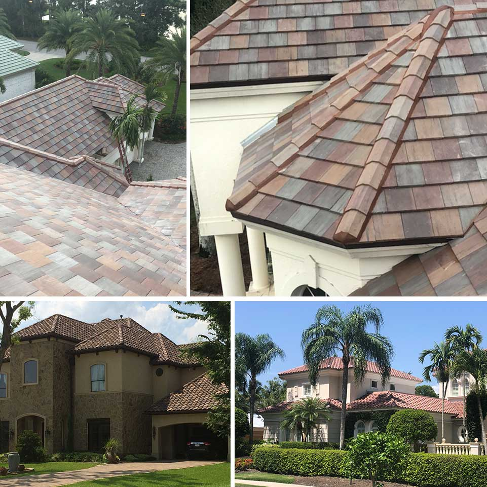 Concrete Roof Collage | United Roofing & Contracting, LLC - Florida Roof Installations and Repairs