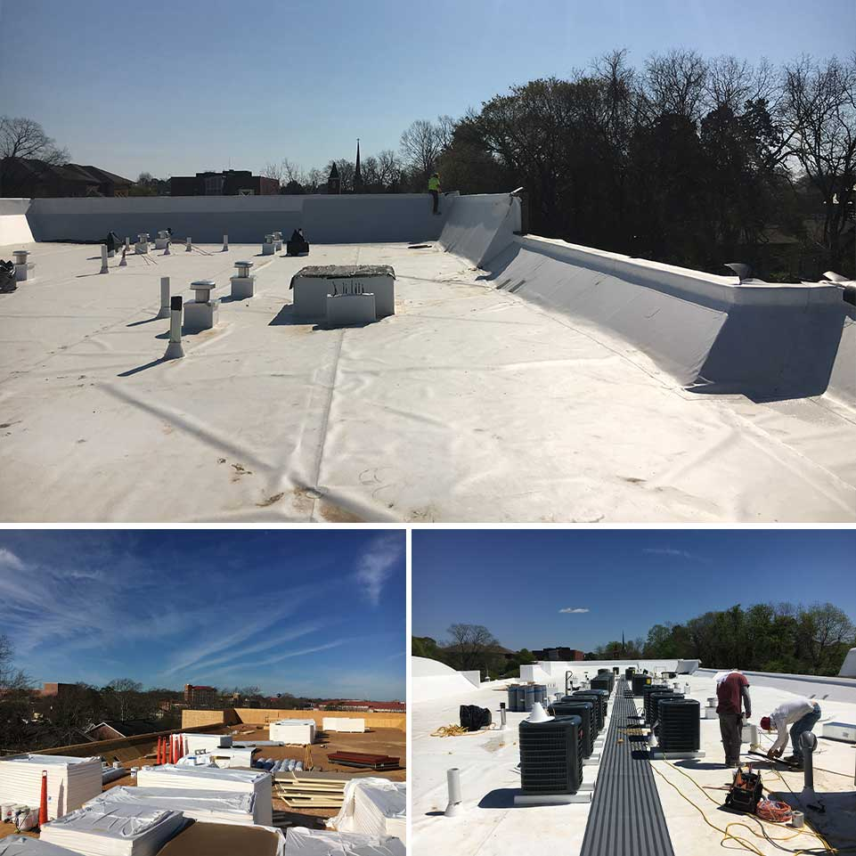 Flat Roof Collage | United Roofing & Contracting, LLC - Florida Roof Installations and Repairs